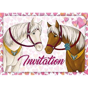 Procos PR84934 Lot de 6 cartes d'invitation cheval Taille unique Multicolore: Amazon.fr: Jeux et ...