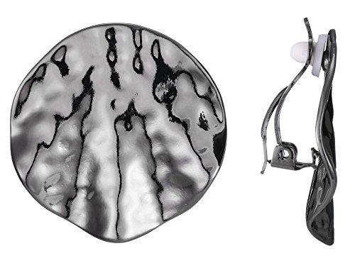 BELLE MISS Ohrring Clip für damen Metal gehämmert Gun - Gun-clips
