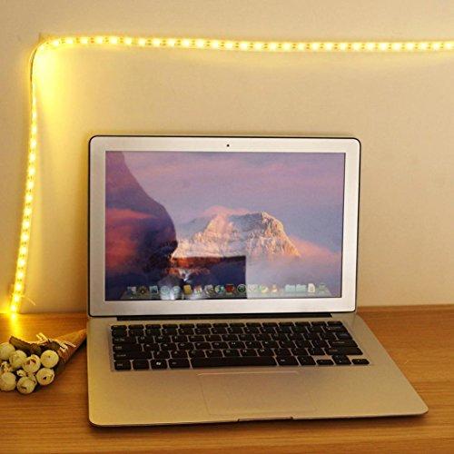 6 Hitze-schalter (sunnymi Touch Schalter 60 LED Streifen Licht Gürtel/1M/USB Aufladung Dimmbar/Schrank Schrank Lampe/Energiesparend Und Umweltfreundlich (B))