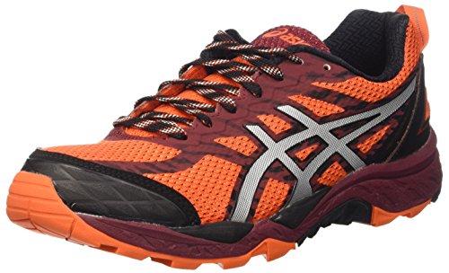 Asics Gel-Fujitrabuco 5, Scarpe trail-running Uomo, Arancione (Flame Orange/Silver/Pomegranate), 42 EU
