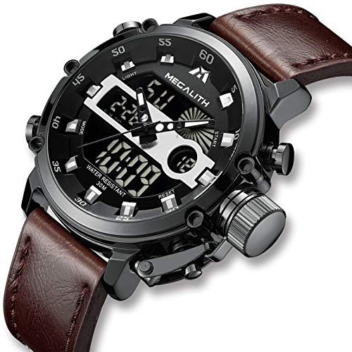 c5f5d9675 Reloj deportivo digital militar de gran rostro para hombre Reloj  impermeable digital LED de alarma para hombre con cronógrafo Reloj  deportivo multifuncional ...