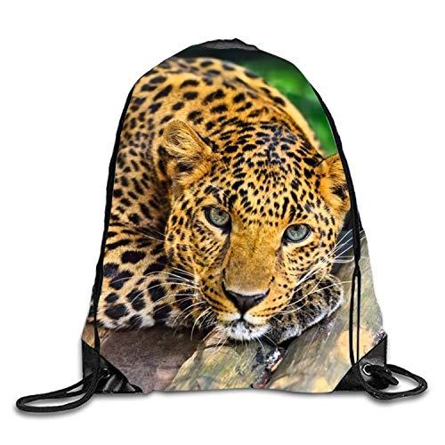 Michael Staton Sporttasche mit Kordelzug Lazy Leopard Durable Backpack for Teen - Lazy Leopard