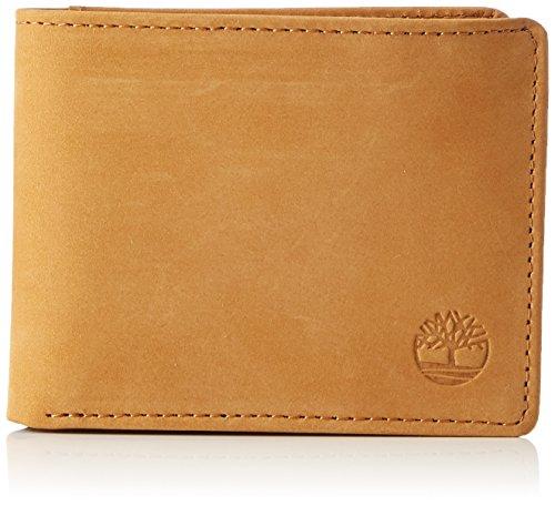 Timberland passcase with coin pocket - portafogli uomo, gelb (wheat), 1.5x11.5x8.5 cm (b x h t)