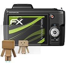 atFoliX Protección de Pantalla para Olympus SP-620UZ Lámina protectora Espejo - FX-Mirror Protector Película con efecto espejo