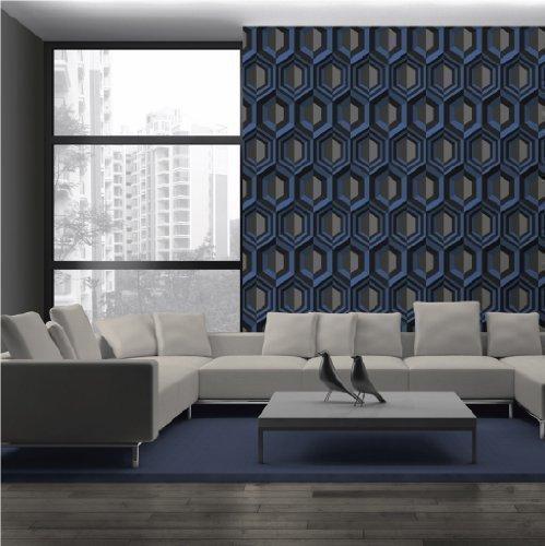 muriva-a-effet-3d-motif-geometrique-en-toile-bleu-j40701-papier-peint-vinyle-texture