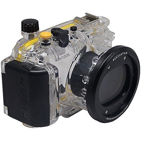 Mcoplus 40m 130ft Carcasa Submarina impermeable Vivienda cámara caso bolsa para Canon PowerShot S120WP-DC51Cámara