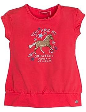 SALT AND PEPPER Mädchen T-Shirt Horses Uni Bündchen