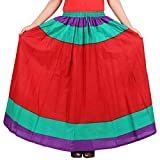 Beauteous Multicolor Cotton Solid Skirt