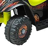 Homcom® Kinderauto Kinderwagen Elektroauto Kinderfahrzeug Kindermotorrad Quad Elektroquad Kinderquad Elektromotorrad (Elektroquad/gelb-schwarz) - 6