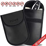 POWR 2 x Car Key Signal Blocker Pouch, RFID Blocking Faraday Case Protector for Keyless Fobs and Remote Entry Keys