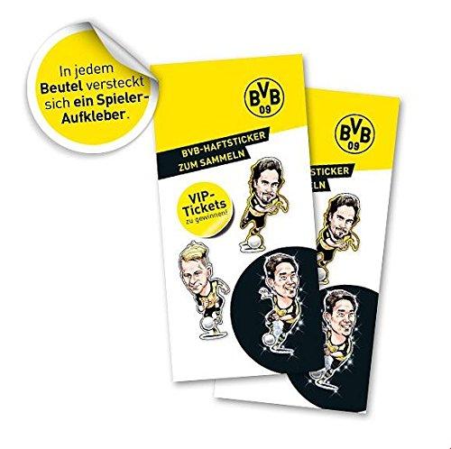 Borussia Dortmund BVB Lot de 10stickers autocollants à collectionner et échanger pour gagner!