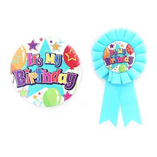 It's My birthday Boy/Girl Badge & Rosette de coloré pour enfants adultes en