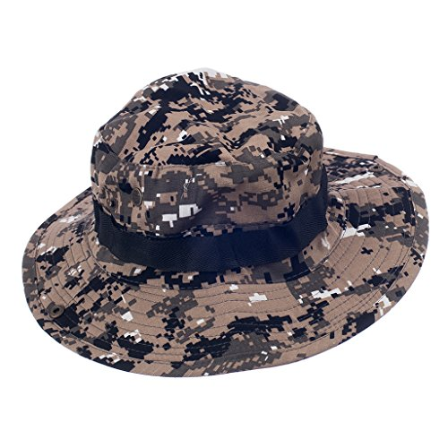 Mens Camo Militärischen Boonie Kappe Sonne Eimer Krempe Armee Angeln Wandern Hut outdoor hat