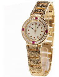 Yves Camani Damen-Armbanduhr Lady Ruby Analog Quarz L-31051GP
