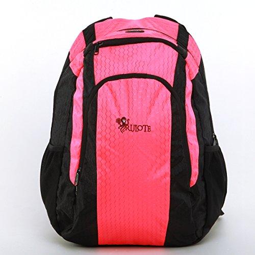 RULOTE nylon impermeabile ad alta tenacità filato a nido d'ape reticolo Laptop Backpack / un'escursione zaino / zaino di campeggio / alpinismo zaino (rosa)