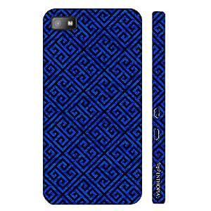 Blackberry Z10 Blue Greecian Pattern designer mobile hard shell case by Enthopia
