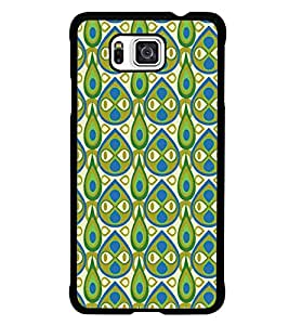 PrintDhaba Pattern D-5407 Back Case Cover for SAMSUNG GALAXY ALPHA (Multi-Coloured)