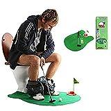 ShengmingMaoyi WC-Golf, Matte Töpfchen Putter WC-Zeit Golf Sport Spiel Badezimmer Mini Golf Training für Herren Spielzeug Funny TIME von Perfect Life Ideen–1Set