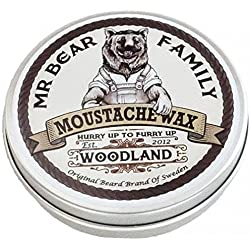 Mr Bear Family Moustache Wax (20ml/0.67oz) - Woodland Scent - Shipped from United Kingdom by Mr Bear Family