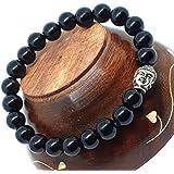 Affaires Semi Precious Stone Yoga & Meditation Buddha Reiki Healing Beads Diffuser Beads Bracelets Unisex Color Black ( B-10 )