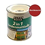 Acryl Seidenmattlack 125ml bordeauxrot samtig glänzend innen außen Holzlack