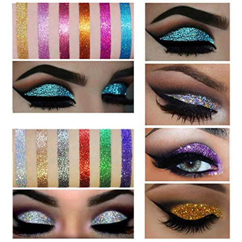 Sombras ojos Maquillaje brillante Glitter Loose Powder