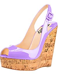 Trusify Mujer 12cm EU tamaño 34-46 Truabandon Tacón ancho 12CM Sintético Sandalias de vestir