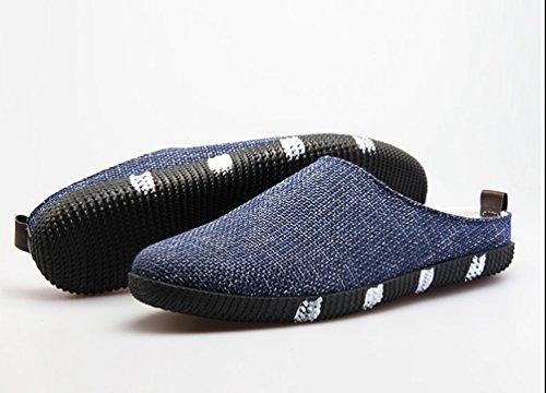 YiLianDa Espadrilles Plates pour Homme Sandales de Plage Bleu