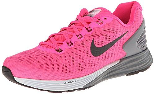 Nike Lunarglide 6, Running Entrainement Femme Hyper Pink / Black / Pr Platinum / Cl Grey