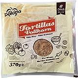 Vollkorn Tortilla Wrap / Wraps - frisch 25 cm - Soft und lecker, 3er Pack (3 x 370 g) + gratis Nacho Rezept Booklet