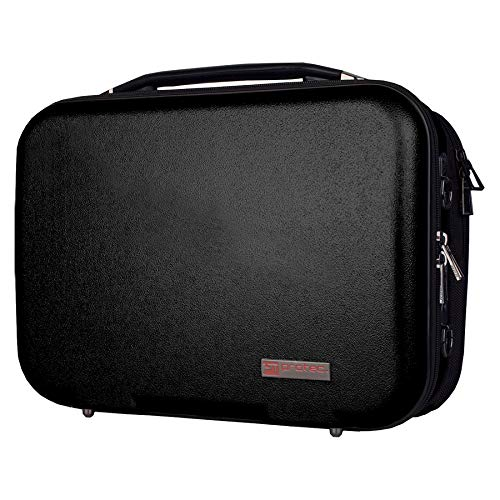 Zip Abnehmbare (Protec ZIP ABS-Etui für Bb Klarinette mit abnehmbarer Notentasche schwarz)