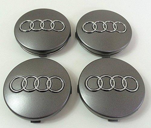 4Nabenkappen mit Audi-Logo, 60mm, für Alufelgen