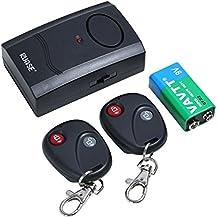 Rupse Inalámbrico Alarma Antirrobo de Vibración de Seguridad de Motocicleta y Coches Eléctricos con 2 Controles Remotos y Batería de 9V