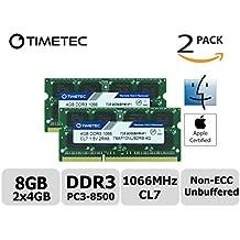 Timetec Hynix IC 8GB Kit (2x4GB) Apple DDR3 PC3-8500 1066MHz Memory Upgrade For iMac 20 inch /21.5 inch/24 inch /27 inch, MacBook Pro 13 inch/ 15 inch/ 13 inch, Mac mini 2009 2010 (8GB Kit (2x4GB))