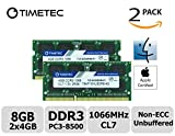 Timetec Hynix IC Apple 8GB Kit (2x4GB) DDR3 PC3-8500 1066MHz memory upgrade for iMac 20 inch /21.5 inch/24 inch /27 inch, MacBook Pro 13 inch/ 15 inch/ 17 inch, Mac mini 2009 2010 (8GB Kit (2x4GB))