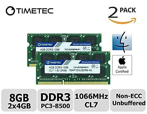 Timetec Hynix IC Apple 8GB Kit (2x4GB) DDR3 PC3-8500 1066MHz