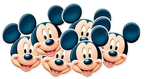 tsmp34–6Masken für Erwachsene Mickey Mouse–Mickey und Friends–Einheitsgröße (Mickey Maus Maske)