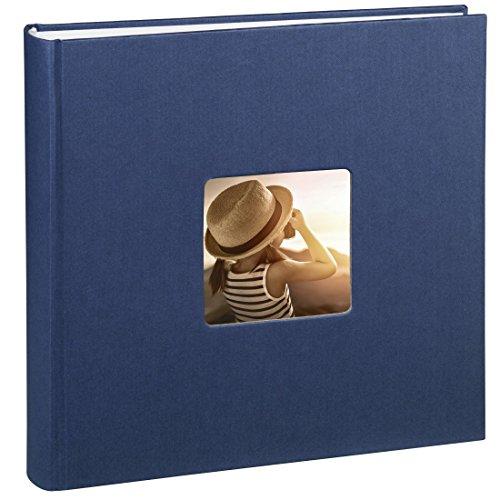 hama-jumbo-fotoalbum-fine-art-30-x-30-cm-100-seiten-50-blatt-mit-ausschnitt-fur-bildeinschub-blau