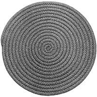 UPKOCH 1 Pieza de 11.8 Pulgadas de Diámetro Utensilios de Cocina de Algodón Taza de Tetera Resistente Al Calor Posavasos (Gris Oscuro)