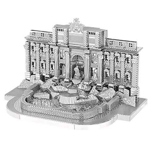 Roman Fontana di Trevi 3D Metall Puzzle Kinder Puzzle zusammengebaut Modellbau DIY Laser geschnittene Jigsaw Geschenk / Silber + Werkzeug / eine Größe