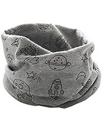 Otoño Invierno Bufanda para Bebé Niños Niñas,O Cuello Patrón Cósmico Algodón Pañuelos By VENMO (gris)