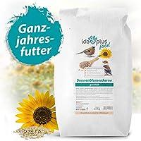 Ida Plus - Geschälte Sonnenblumenkerne 25 kg - Vogelfutter für Wildvögel & Vögel - Ganzjahres-Vogelstreufutter - Wildvogelfutter - Wintervogelfutter ist Fettreich & Energiereich für alle Körnerfresser