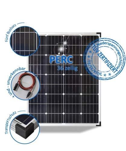 preVent GmbH Solarmodul 100W Wohnmobil Solarpanel 12V Mono mit PERC Zellen 5 Busbars