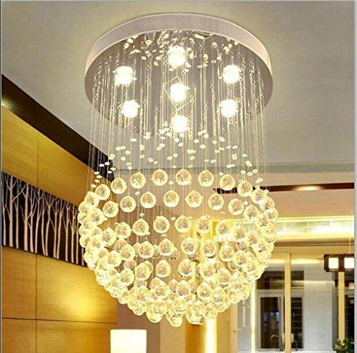 Pendelleuchte Kristall der Regen-Tropfen Camera des Salon der Raum Lampen Deckenleuchte der Hotel GU10LED Leuchtmittel Licht aufgehängt Spannung: 220V [Energie von Energie A + +] 14-Head-?80*H120CM