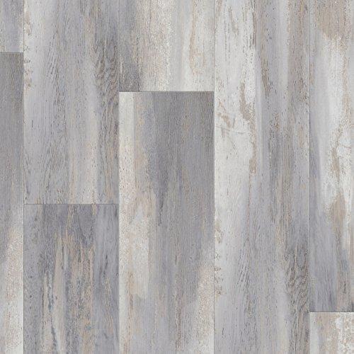 Muster zu Klick-Vinyl Laminat Senso Lock 30 XL'0733 Haven Grey' 124,5 x 17,8 cm Vinylboden | Optik: Holz gräulich