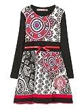 Desigual Mädchen Kleid Vest_GABERONES, Schwarz (Negro 2000), 128 (Herstellergröße: 7/8)