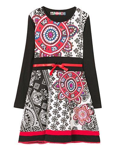 Desigual Mädchen Kleid Vest_GABERONES, Schwarz (Negro 2000), 140 (Herstellergröße: 9/10)
