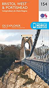 OS Explorer Map (154) Bristol West and Portishead