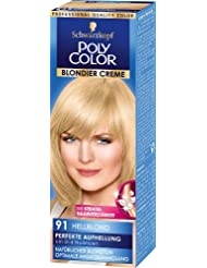 Poly Color Blondier Creme Coloration 91 Hellblond, 3er Pack (3 x 89 ml)
