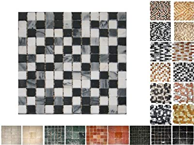1Qm Marmor Mosaik San Remo 23 von Mosaikdiscount24 - TapetenShop